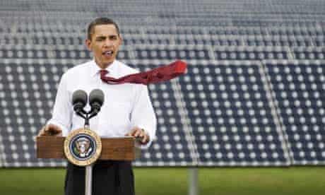 Barack Obama speaks during a visit to Florida Power & Light's Desoto Next Generation Solar Energy Centre