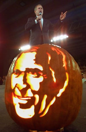 Pumkin carving: Pumpkin carving George Bush