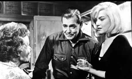 Clark Gable and Marilyn Monroe in The Misfits