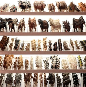 Top toys: A stand of animal figures made by Schleich