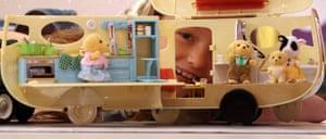 Top toys: Rhianna, 10, plays with the Sylvanian Families Caravan