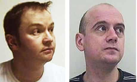 Lothian and Borders Police handout photos of paedophiles James Rennie (left) and Neil Strachan