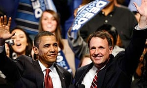 Barack Obama and Virginia gubernatorial candidate Creigh Deeds