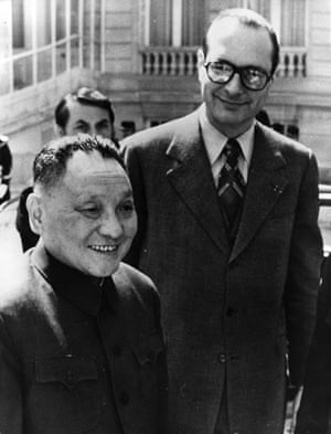 Jacques Chirac: 1975: Chinese vice premier Deng Xiaoping on a state visit to Paris