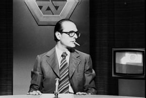 Jacques Chirac: 1976: Jacques Chirac during a TV debate broadcast on Antenna 2