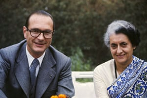 Jacques Chirac: 1976: Jacques Chirac with Indian prime minister Indira Gandhi