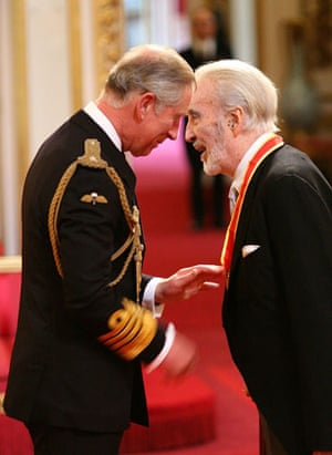 Christopher Lee: Sir Christopher Lee receives his knighthood