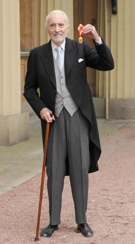 Christopher Lee: Sir Christopher Lee after receiving a Knighthood