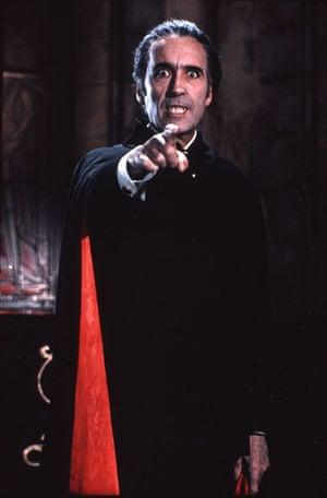 Christopher Lee: Christopher Lee as Dracula