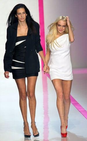 Lindsay Lohan and Ungaro: Estrella Arch and Lindsay Lohan