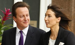 David and Samantha Cameron arriv e in Manchester  on the eve of the Tory conference
