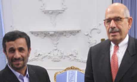 Mahmoud Ahmadinejad  and Mohamed ElBaradei