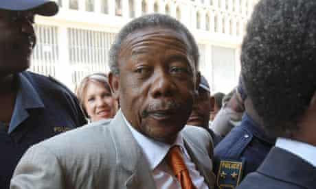 Jackie Selebi arrives at the Gauteng South high court in Johannesburg