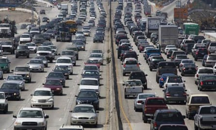 Pollution and carbon emissions :  traffic San Diego in West Los Angeles California