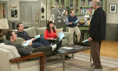 The cast of Seinfeld on Curb Your Enthusiasm with Larry David