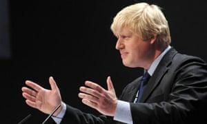 Boris Johnson addresses the Conservative party conference
