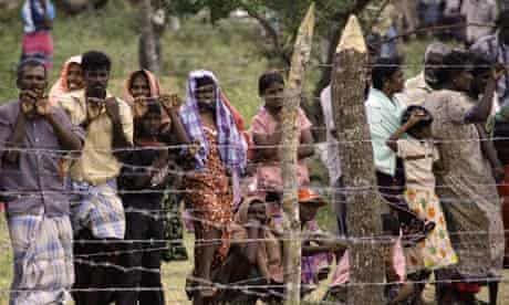 Civilians in the Manik Farm refugee camp in the Sri Lankan town of Vavuniya