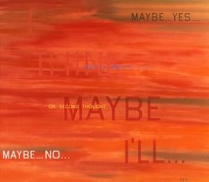 """Obama white house art: """"I' think I'll..."""" by Ed Ruscha 1983"""
