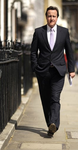 Top Ten Tories: Conservative Party leader David Cameron arrives for a press conference