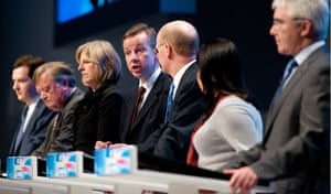 Michael Gove at Conservative conference