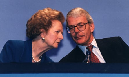 John Major and Margaret Thatcher at the 1996 Conservative Party Conference