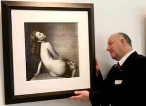 Irving Penn: A photograph by Irving Penn of model Kate Moss at Christie's in London