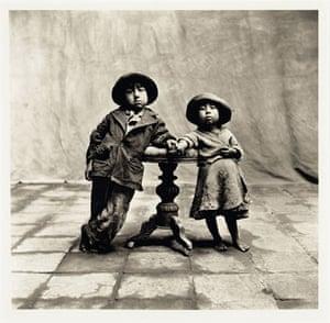 Irving Penn: Irving Penn's 1948 photograph, Cuzco Children, a platinum-palladium print