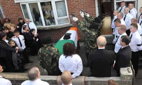 Shots fired over the coffin of John Brady