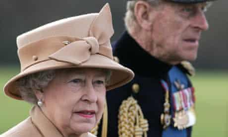 Britain's Queen Elizabeth II (L) and Pri