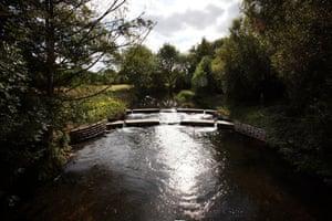 River Lee: Hartham Weir, Hertfordshire