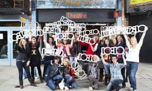 Young Vic workers and actors posing for 10:10