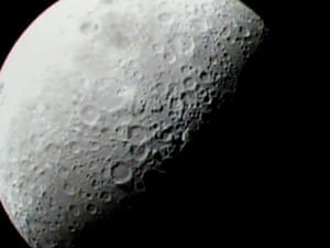 LCROSS  : A closer view of the moon as the LCROSS spacecraft approaches impac