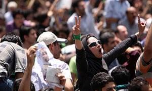 A protest in Tehran