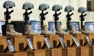 Fallen soldier memorials in Fort Hood