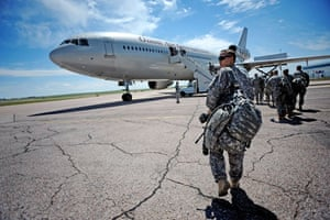 American soldier: Getting the plane to Iraq