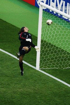 England v Brazil: David Seaman of England