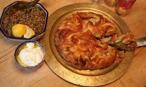 Allegra's Moroccan filo pie