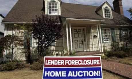 A home advertised for sale at a foreclosure auction in California