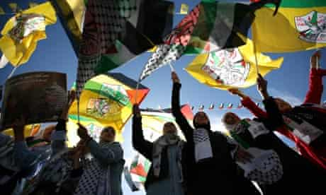 Fatah supporters in the West Bank