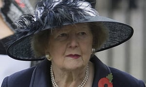 Baroness Thatcher at a Remembrance Day service