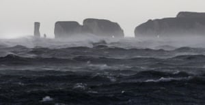UK gales: Old Harry Rocks on the Isle of Purbeck