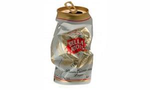 Crushed Stella Artois can