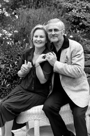 Edward Woodward obit: 1987: Edward Woodward with his wife Michele Dotrice