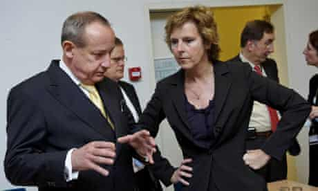 Copenhagen Climate change conference preparatory meeting: Connie Hedegaard and Yvo de Boer