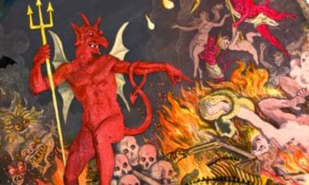 Satan Ruling Victims of Hell