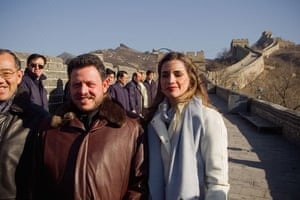 Leaders at the Great Wall: December 2007: King Abdullah and Queen Rania of Jordan visit the Great Wall