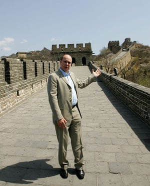 Leaders at the Great Wall: April 2007: Prince Albert II of Monaco poses for a photo