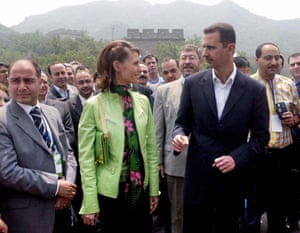 Leaders at the Great Wall: June 2004: Visiting Syrian president Bashar al-Assad and his wife Asma