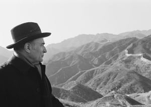 Leaders at the Great Wall: February 1981: French socialist leader Francois Mitterrand