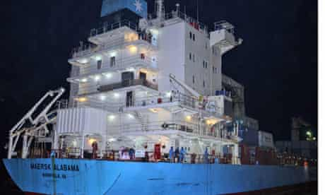 The Maersk Alabama, which Somali pirates attacked for the second time in seven months